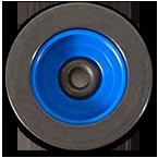 Knopf schwarz blau