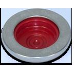 Knopf Workwear Silber Rot