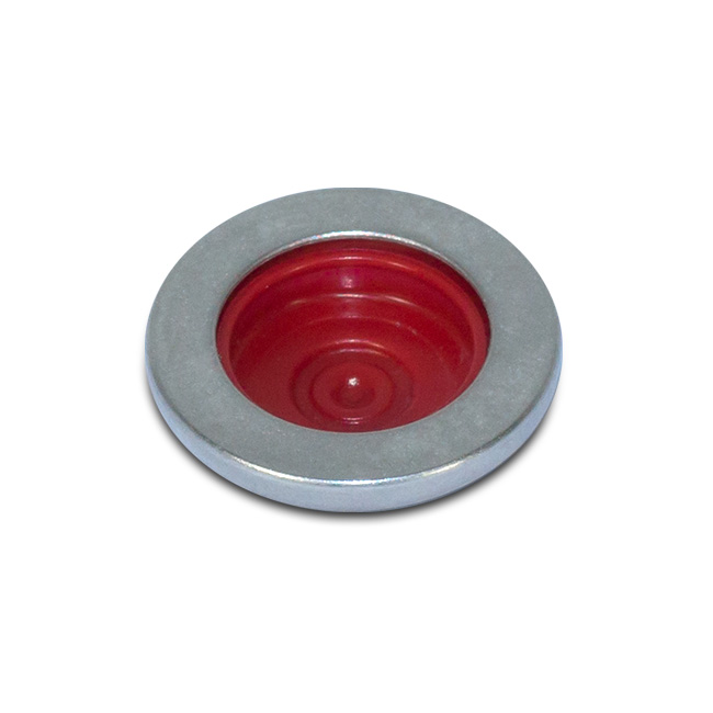 Druckknopf Workwear Silber Rot