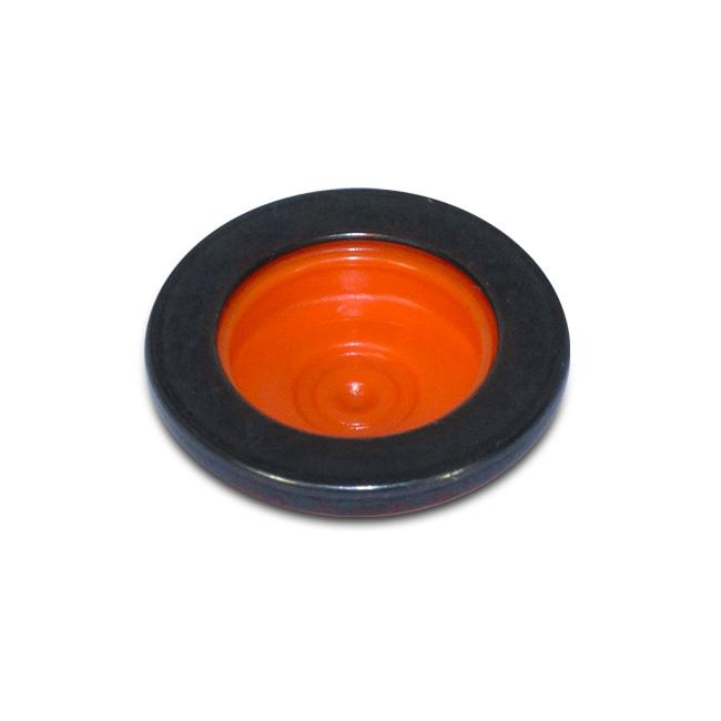 Druckknopf Workwear schwarz orange