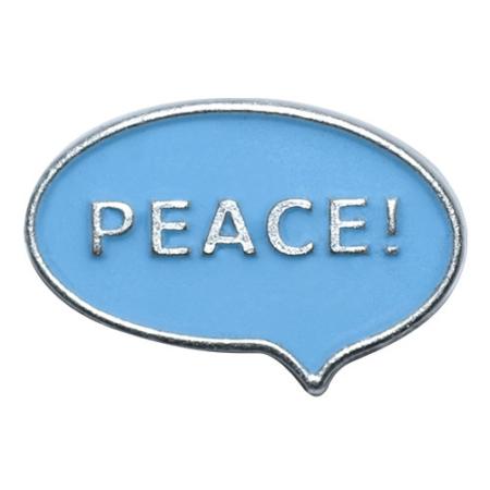 Knopf 29036 Peace blau