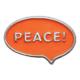 Knopf 29037 Peace orange