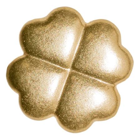 Knopf 29073 Kleeblatt gold