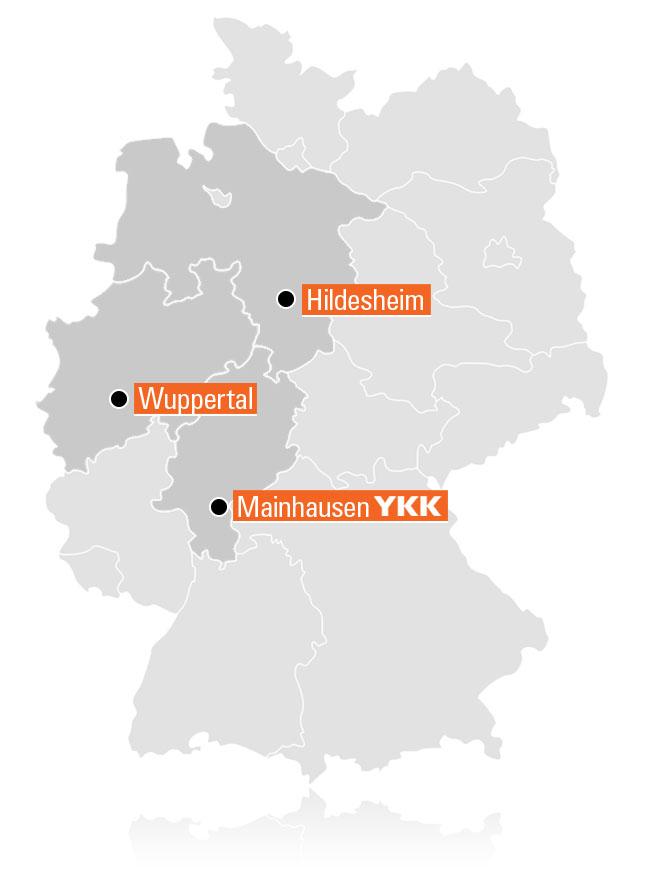 Deutschlandkarte YKK