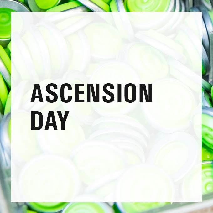 Changed opening hours on Ascension Day Beitragsbild